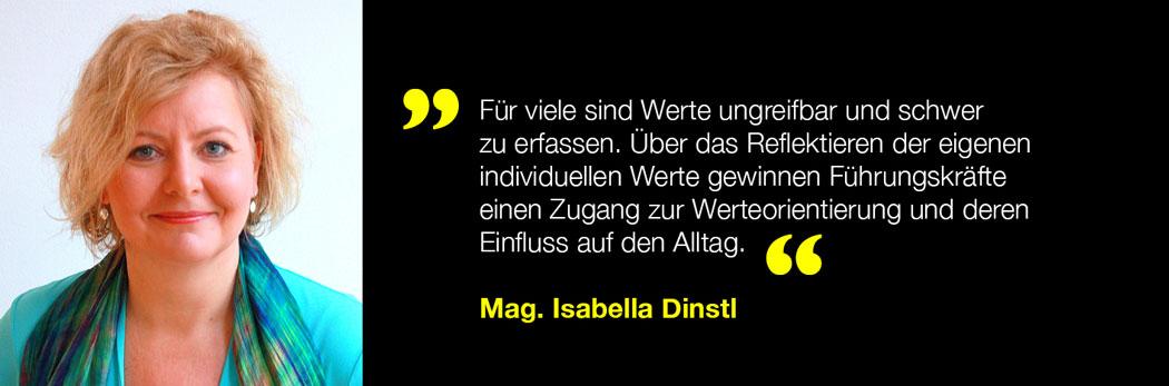 Isabella Dinstl über Wertschätzung und Anerkennung