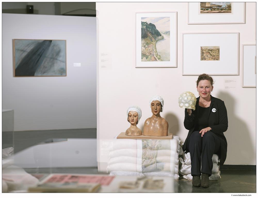 Andrea BIna, Lehrgangsabsolventin des MAS-Lehrganges Kulturmanagement und Leitung NORDICO Stadtmuseum Linz. (c) Lukas Beck