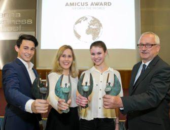 Amicus Award für soziale Schulprojekte vergeben