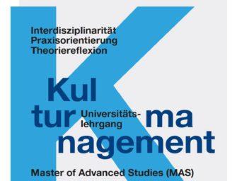 Berufsbegleitender MAS-Lehrgang Kulturmanagement startet im Oktober